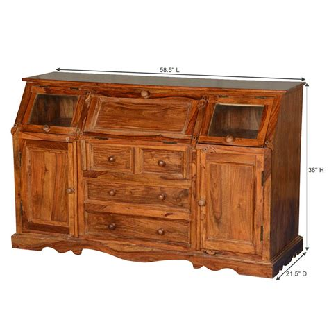 wood credenza clarington solid wood sideboard credenza with drawers