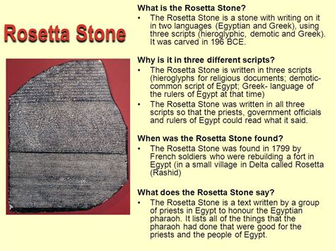 rosetta stone facts ancient egypt ancient egypt ppt video online download