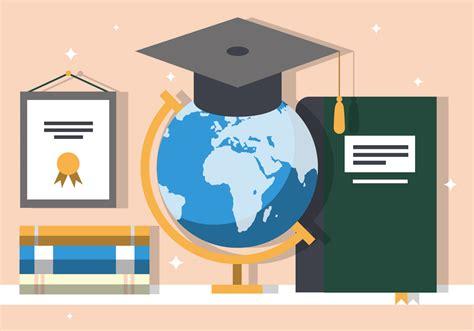 education ilustration graduate education vector illustration free