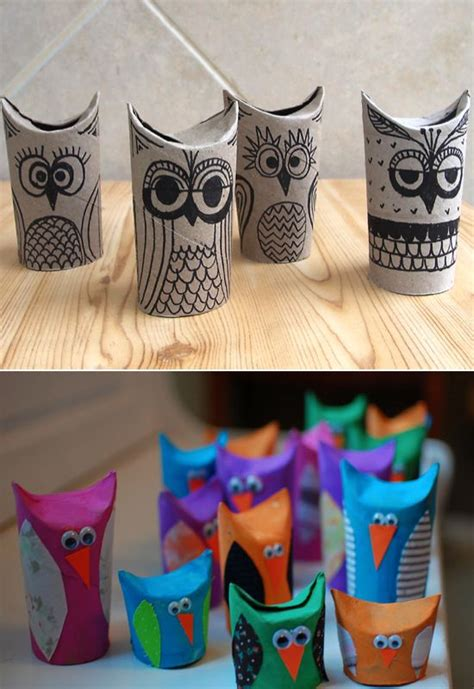 Owl Craft Toilet Paper Roll - toilet paper roll owls c ideas for crafts