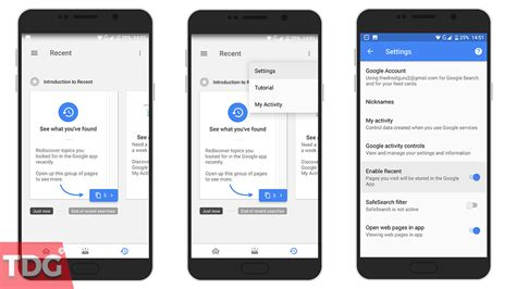 Gift Card For Apps - how to enable and disable recent cards in google now or google app