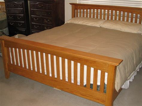 mission style bed mission style king bed by woodman2x4 lumberjocks com