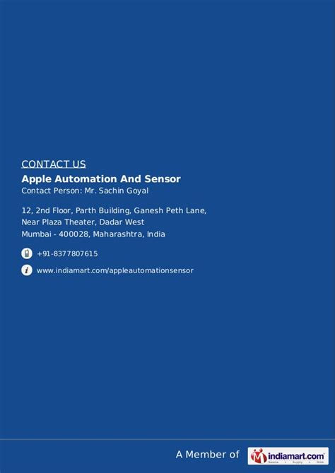 Smu Distance Mba Dadar Mumbai Mumbai Maharashtra 400028 by Apple Automation And Sensor Mumbai Electronic Sensors