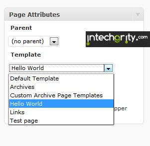 making interactive wordpress custom page template from scratch