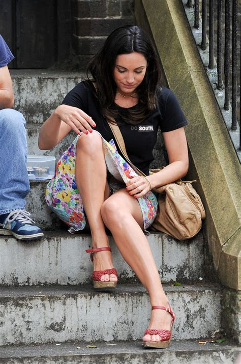 kelly brook upskirt on the set of taking stock in london   sawfirst hot celebrity pictures