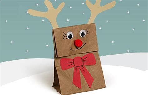 Paper Bag Reindeer Craft - reindeer gift bags for highlights your