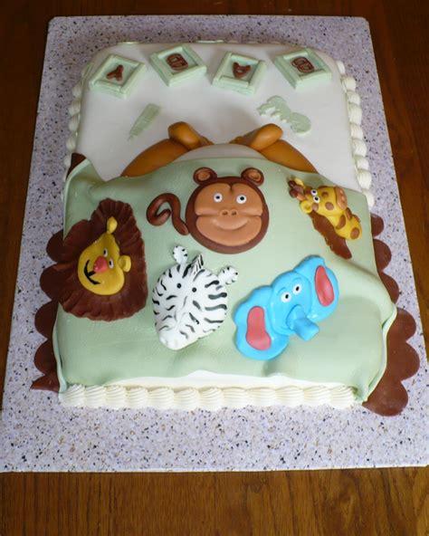 animal baby shower cake sugar lump cakes animal cakes