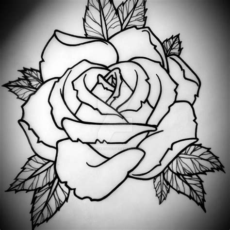 rose stencil tattoo stencils www pixshark images galleries