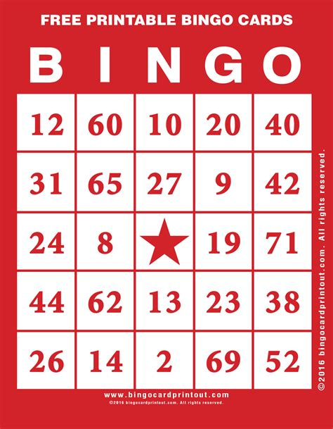 Picture Bingo Cards Printable