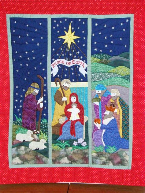 quilt pattern nativity scene 1000 images about religious quilts on pinterest