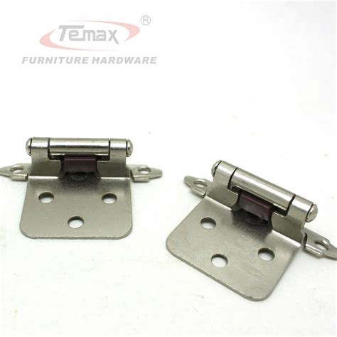 Kitchen Cabinet Hinge Hardware 1 Pair Satin Nickel Flush Type Self Cabinet Hinge Kitchen Furniture Hinges Hardware Door