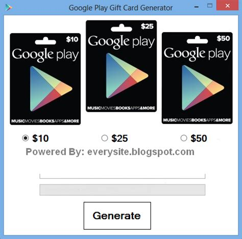 Google Play Gift Card Generator No Survey Android - google play gift card generator 2014 free download no survey hacking softwares