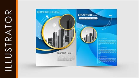 adobe illustrator brochure templates free free adobe illustrator template brochure two fold