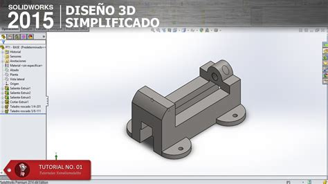 tutorial de solidworks 2015 solidworks 2015 tutorial pt1 base parte 04 youtube