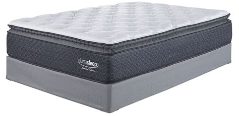 bed foundation queen white queen pillowtop mattress with foundation from ashley