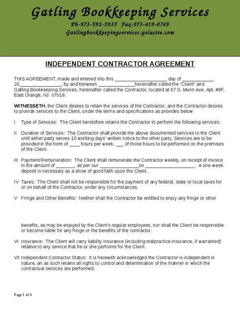 Bookkeeping Contract Template Free Templates Resume Exles L6abk0kgr3 Bookkeeping Agreement Template