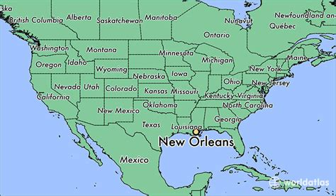 usa map states new orleans where is new orleans la new orleans louisiana map