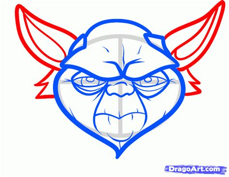 yoda face coloring page how to draw yoda easy step by step star wars characters
