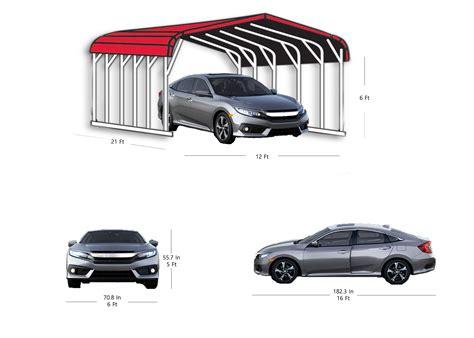 dimensions of a carport metal carport truck suv