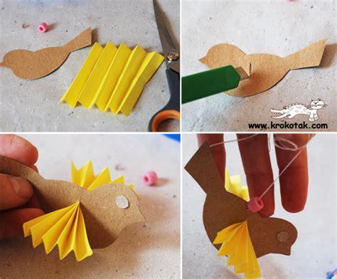 Make Bird With Paper - krokotak paper bird
