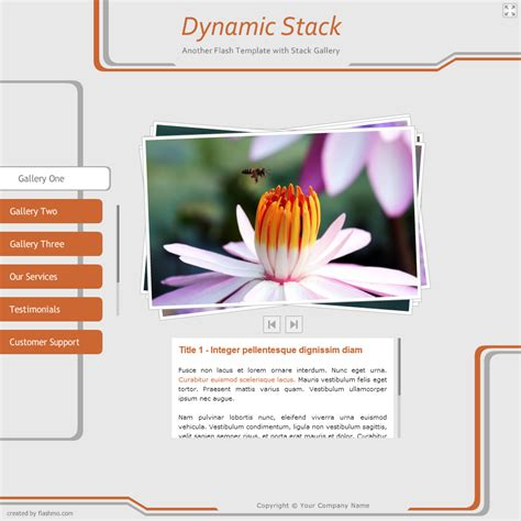 dynamic templates free flash template 280 dynamic stack