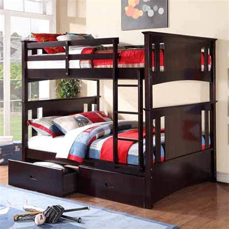 full over full bunk beds with storage youth kids bedroom full over full bunk bed roller storage