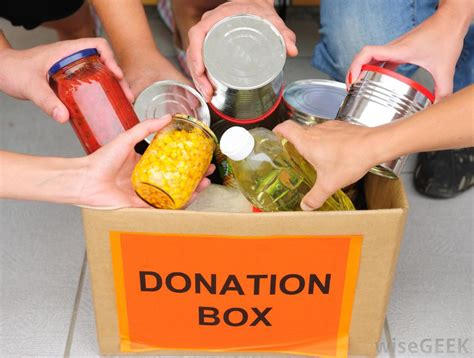 donate food what are some ideas for charitable giving with pictures