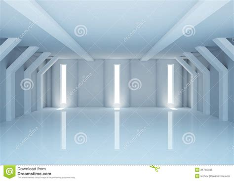 empty wide room  futuristic columns stock illustration