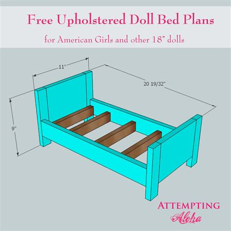 american girl doll furniture plans attempting aloha upholstered american girls doll bed plans