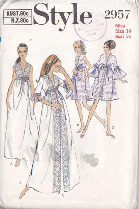 Vintage Nightwear Pattern   vintage lingerie pattern what they made pinterest