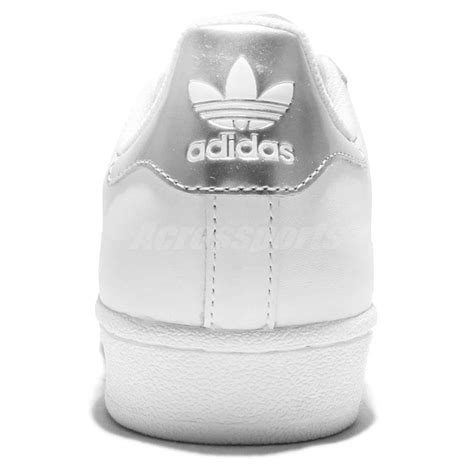 Adidas Superstar Putih Silver Import Asli adidas originals superstar white silver womens classic shoes sneakers aq3091 ebay