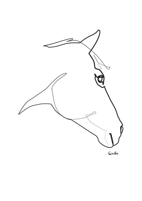 quibe one line drawing horse logos pinterest line