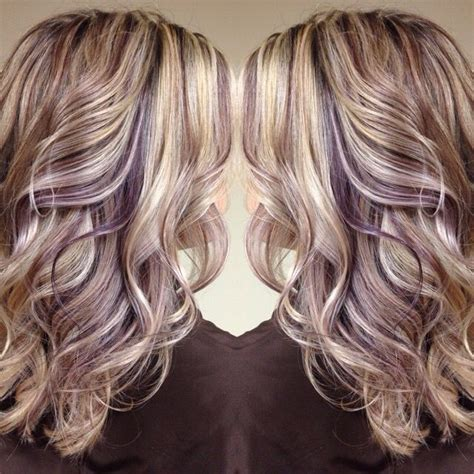 hairstyles with blonde and purple highlights blonde hair with purple highlights hair color ideas