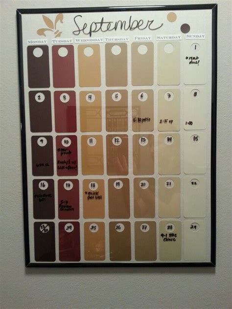the 25 best paint chip calendar ideas on calendar diy decorations projects and
