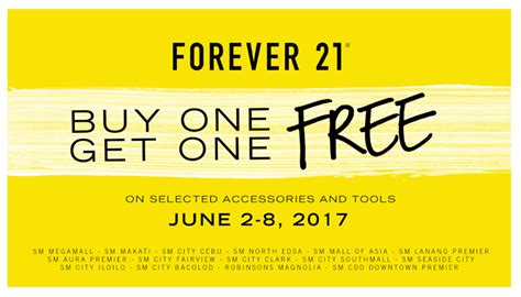 Forever 21 Giveaway 2017 - manila shopper forever 21 accessories buy1 get1 promo june 2017