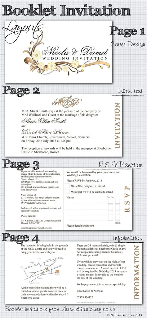 hochzeitseinladung layout booklet wedding invitation layout wedding ideas