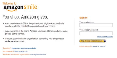 amazon sign up new amazon program enables shoppers to easily donate to