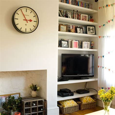 Living Room Alcove Ideas by Living Room With Alcove Storage Family Living Room