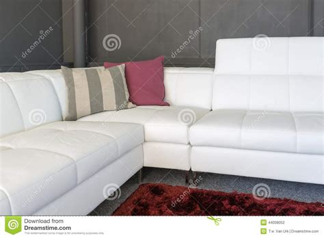 pillows for white couch couch with white upholstery and pillows stock photo