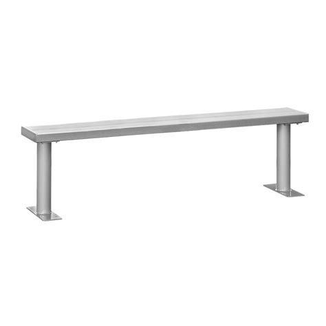 locker bench salsbury industries 60 in w aluminum locker bench 77775