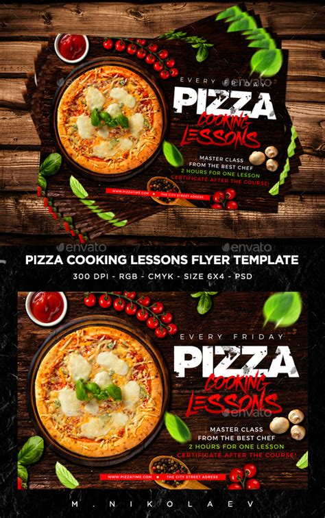 pizza sale flyer template pizza cooking lessons flyer pizzas psd templates and templ
