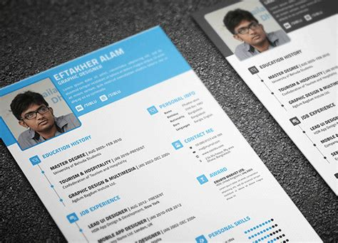 30  Best Free Resume Templates in PSD, AI, Word DocX