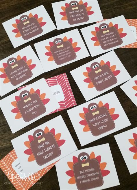 printable quiz cards craftaholics anonymous 174 thanksgiving table craft turkey
