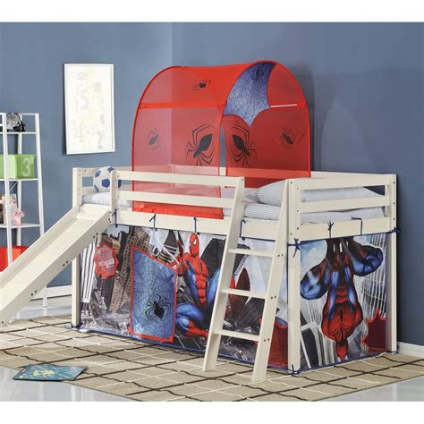 spiderman bunk bed cabin bed midsleeper with slide