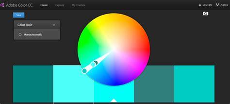 adobe color wheel color scheme options web design