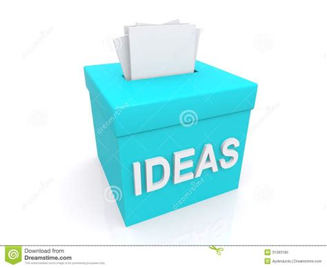 ideas image suggestions in ideas box royalty free stock photo image