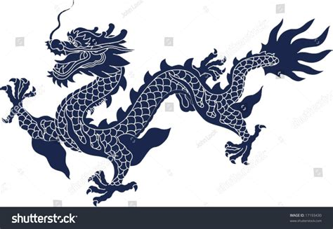 vector chinese ancient dragon pattern stock vector
