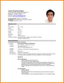 formal resume format 7 formal photo for cv reporter resume