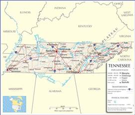 A Map Of Tennessee by Map Of Tennessee Cities