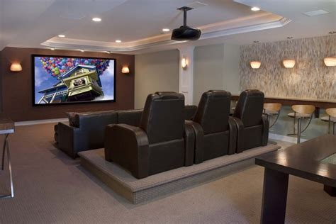 Family Media Room - contemporary family entertainment contemporary home theater philadelphia by stone